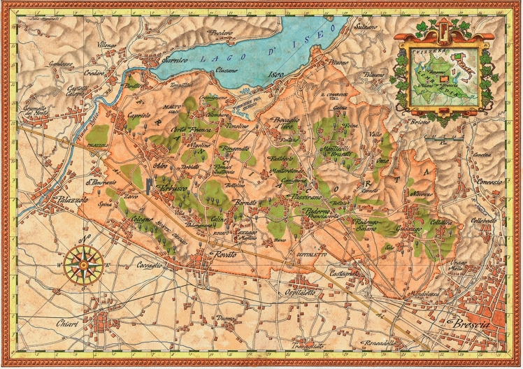 Franciacorta mappa