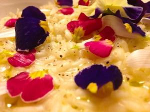 risotto fiori primissimo piano