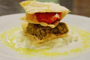 millefoglie croccante di melanzane alla parmigiana