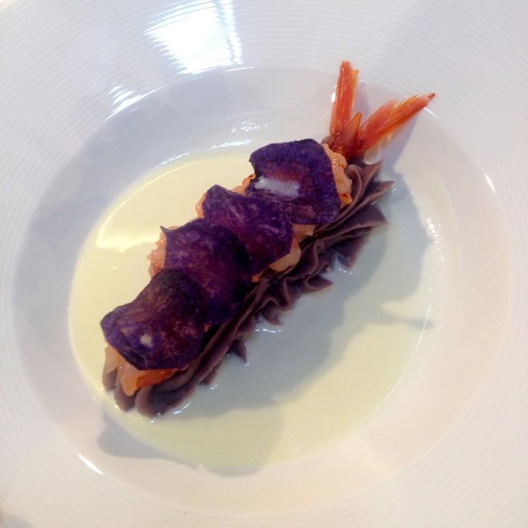 patata viola gamberi rossi salsa franciacorta
