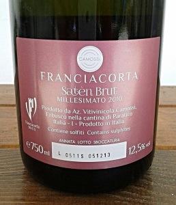 Franciacorta, Camossi, Millesimato, Wine