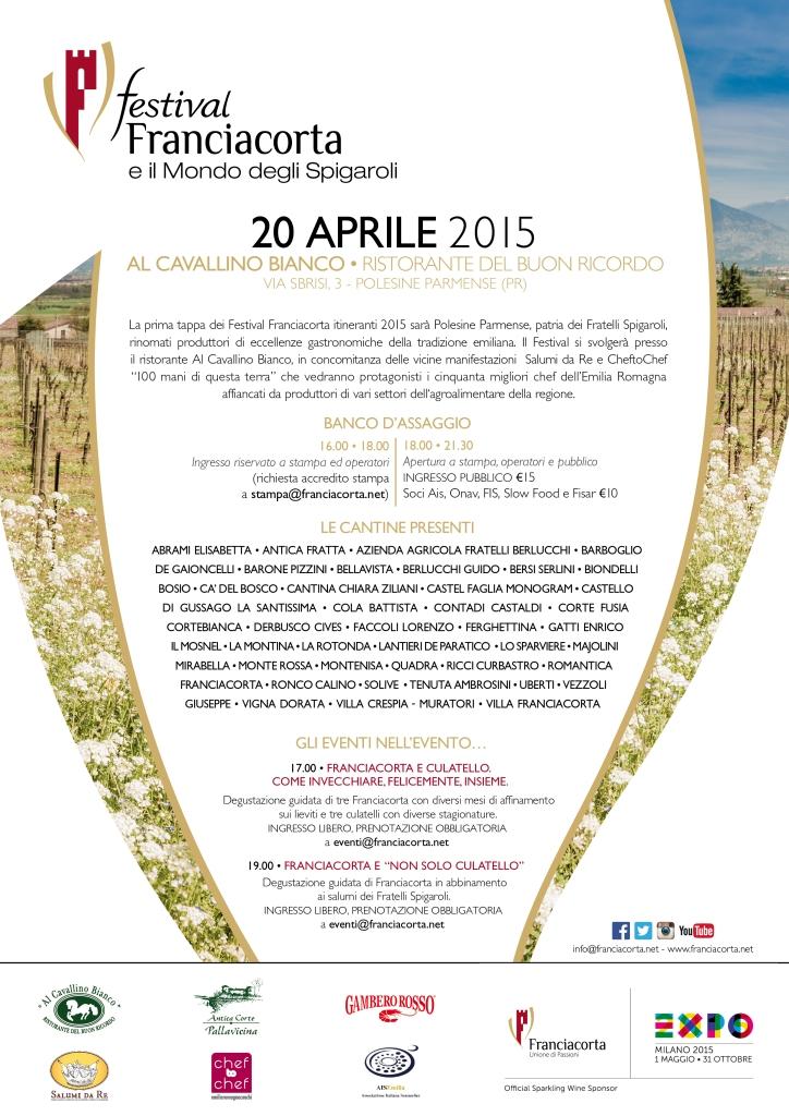 Depliant Festival Franciacorta e il Mondo degli Spigaroli 20_Aprile_15 Polesine Parmense