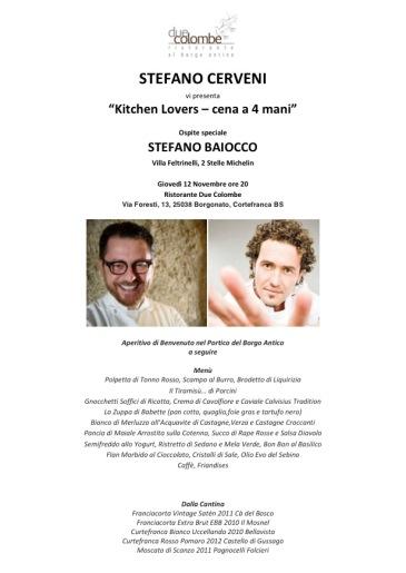 Kitchen Lovers cena a 4 mani - Stefano Cerveni & Stefano Baiocco_12 Novembre 2015