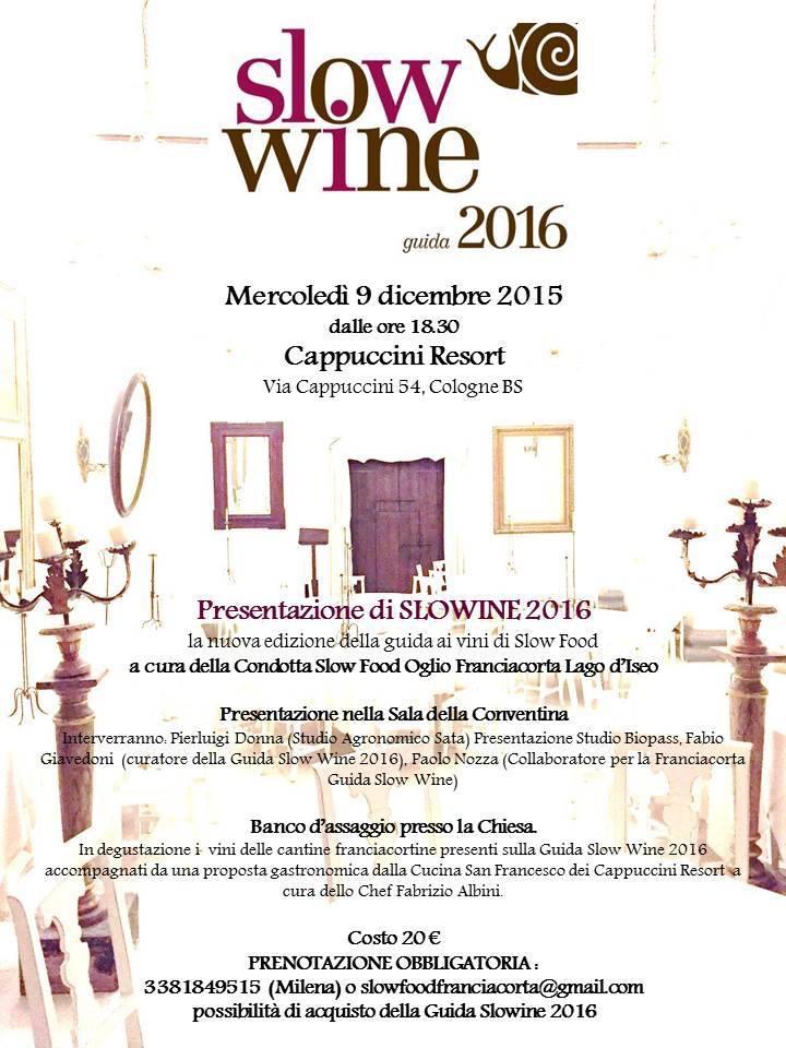Slow Wine 2016 Franciacorta