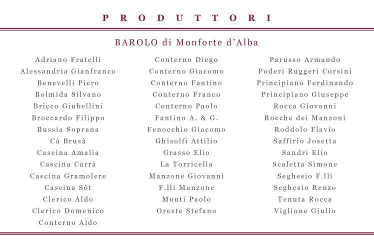 barolo elenco