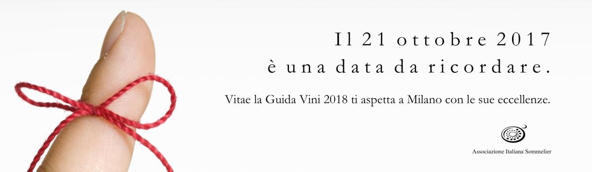 Il 21 ottobre al The Mall per la presentazione della Guida Vitae 2018